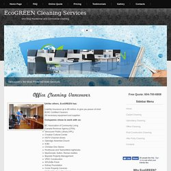 Office Cleaning Service Vancouver BC
