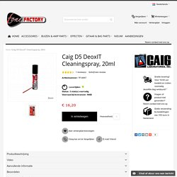 Caig D5 DeoxIT Cleaningspray, 20ml - tonefactory.nl