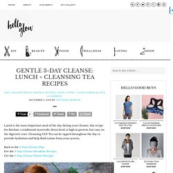 Gentle 3-Day Cleanse: Lunch + Cleansing Tea Recipes