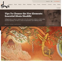 Tips To Cleanse the Five Elements: Essential Bhuta Shuddhi