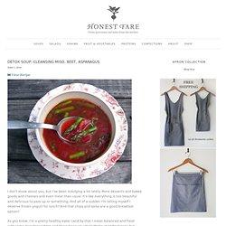 Detox Soup: Cleansing Miso, Beet, Asparagus