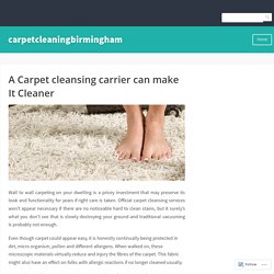 A Carpet cleansing carrier can make It Cleaner – carpetcleaningbirmingham