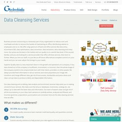 Outsource Data Cleansing and Data Analysis
