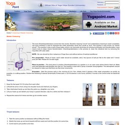 Yoga Point - Master Cleansing or Shankha Prakshalana or Dhouti (Cleansing Process from Hatha Yoga)