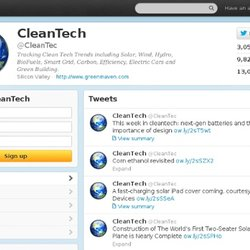 Clean Technology (CleanTec) sur Twitter