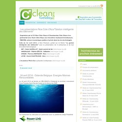 CleanTuesday : Association pour la promotion des cleantech moteur de l'innovation -