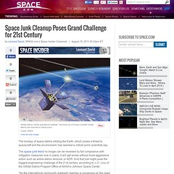 Junk Cleanup Poses Grand Challenge for 21st Century | Orbital Debris Threat & Space Technology | Space Debris