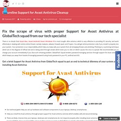 Cleanup Support for Avast Antivirus
