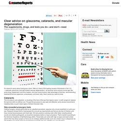 Clear Advice on Eye Diseases
