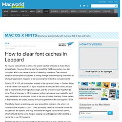 How to clear font caches in Leopard