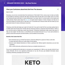 Clear your Confusions about Keto Diet from The Answers