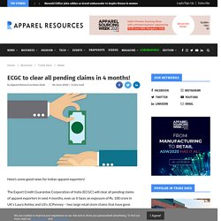ECGC to clear all pending claims in 4 months!