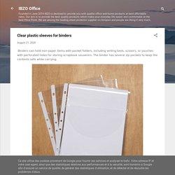 Clear plastic sleeves for binders