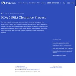 FDA 510(k) Clearance - Dangerous Fast-Track Approval Process