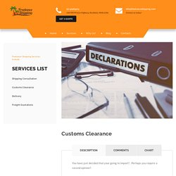 Get Easily Customs Clearance Broker Services