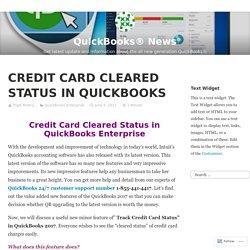 CREDIT CARD CLEARED STATUS IN QUICKBOOKS – QuickBooks® News