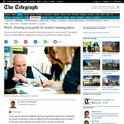 PGCE: Clearing 2015 guide for teacher training places