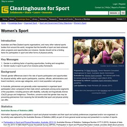 Clearinghouse : Women's Sport