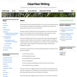 ClearView Writing - Freelance Writing, Website Management and SE