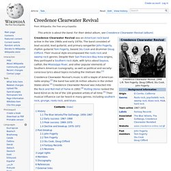 Creedence Clearwater Revival information