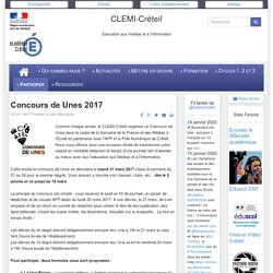 CLEMI-Créteil - Concours de Unes 2017