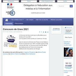 CLEMI-Créteil - Concours de Unes 2021
