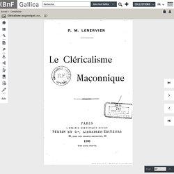 Cléricalisme maçonnique