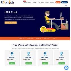 IBPS Clerk 2021 Online Mock Test Series