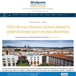 ESC Clermont - grade licence Bachelors Com Digitale