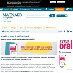 Le grand oral Magnard