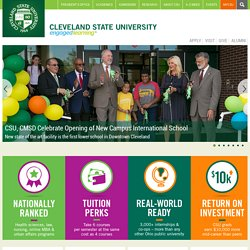 Cleveland State University - Engaged Learning Happens Here