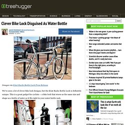Clever Bike Lock Disguised As Water Bottle
