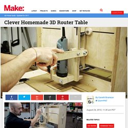 Clever Homemade 3D Router Table