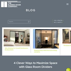 4 Clever Ways to Maximize Space with Glass Room Dividers