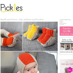 Small and clever - hat, mittens and booties
