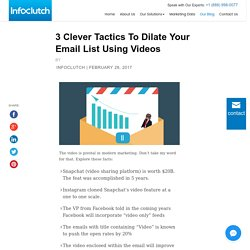 3 Clever Tactics To Dilate Your Email List Using Videos