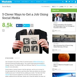 5 Clever Ways to Get a Job Using Social Media