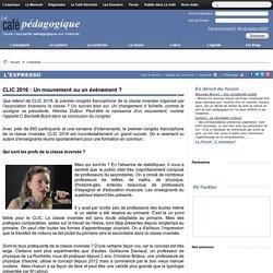 CLIC 2016 : Un mouvement ou un événement ?