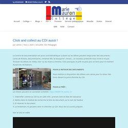 Une vidéo de 3 mn pour comprendre le click & collect au CDI / Collège Marie Mauron Nice