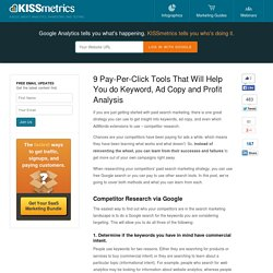 9 Pay-Per-Click Tools That Will Help You do Keyword, Ad Copy and Profit Analysis