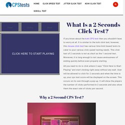 Click Test 2 Seconds- Mouse Click Speed in 2 Secs Time