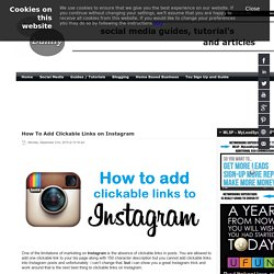How to add clickable links on Instagram with this simple trick