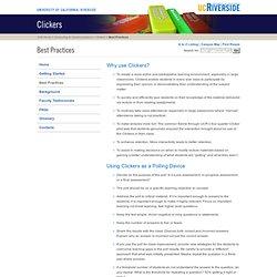 Clickers: Best Practices