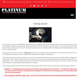 Clicking Sounds - Platinum Plus Services