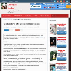 Clickjacking et Failles de Redirection – Le Blog du Hacker