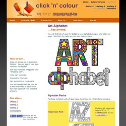 Colouring-in (Coloring) Artwork Downloads - Alphabet