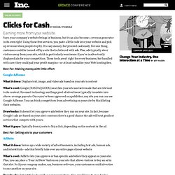 Clicks for Cash - Online Advertising - Money for Website