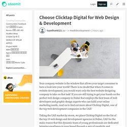 Choose Clicktap Digital for Web Design & Development