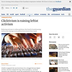 Clicktivism is ruining leftist activism