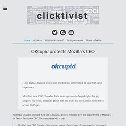 Clicktivist | Digital campaigning, one click at a time